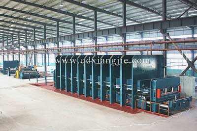 2600X12600/14800T Steel cord conveyor belt production line
